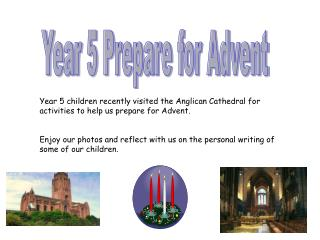 Year 5 Prepare for Advent