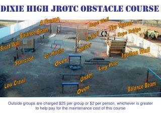 Dixie High JROTC Obstacle Course