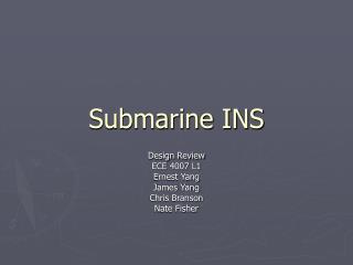 Submarine INS