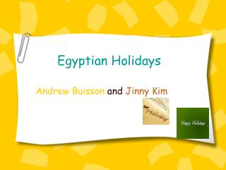 Egyptian Holidays