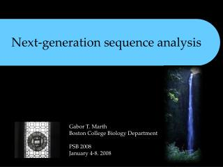 Next-generation sequence analysis