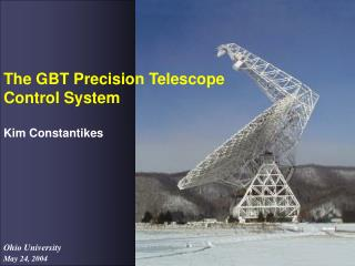 The GBT Precision Telescope Control System