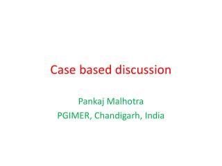 Case based discussion