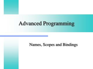 Advanced Programming