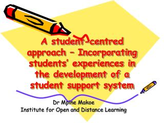 Dr  Mpine Makoe  Institute for Open and Distance Learning