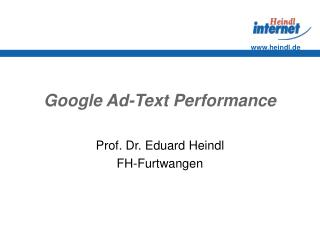 Google Ad-Text Performance