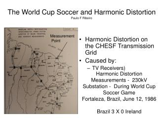 World Cup Soccer and Harmomic Distortion