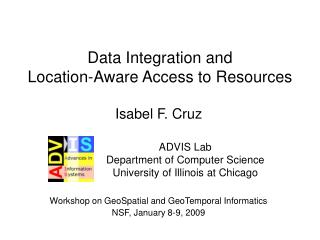 Data Integration and  Location-Aware Access to Resources