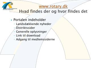 rotary.dk Hvad findes der og hvor findes det