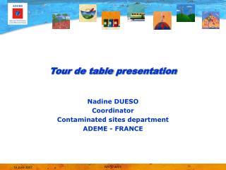 Tour de table presentation