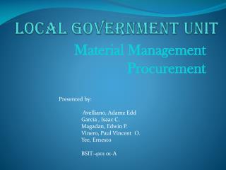 Local Government Unit