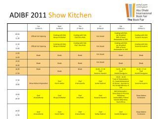 ADIBF 2011  Show Kitchen