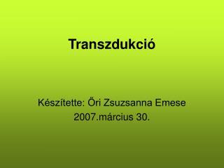 Transzdukció