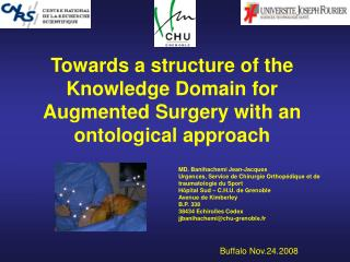 Towards  a structure of the  Knowledge Domain for Augmented Surgery with an ontological approach