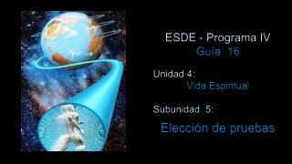 ESDE - Programa IV Guía  16 Unidad 4:  Vida Espiritual Subunidad  5: Elección de pruebas