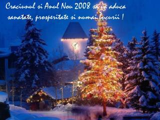 Craciunul si Anul Nou 2008 sa va aduca sanatate, prosperitate si numai bucurii  !