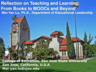 Reflection on Teaching and Learning:  From Books to MOOCs and Beyond