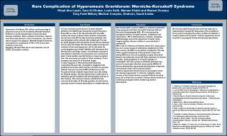 Rare Complication of Hyperemesis Gravidarum: Wernicke-Korsakoff Syndrome