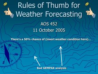 Rules of Thumb for Weather Forecasting
