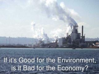 If it's Good for the Environment, is it Bad for the Economy?