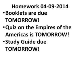 Homework  04-09-2014