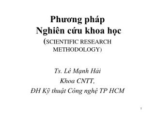 Ph??ng ph�p  Nghi�n c?u khoa h?c ( SCIENTIFIC RESEARCH METHODOLOGY)