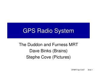 GPS Radio System