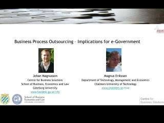 Business Process Outsourcing – Implications for e-Government