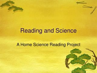 Reading and Science