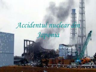 Accidentul nuclear din Japonia