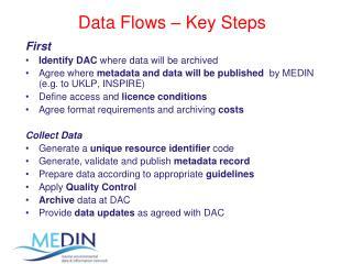 Data Flows – Key Steps