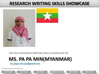 Ms. Pa  Pa  Min(Myanmar)