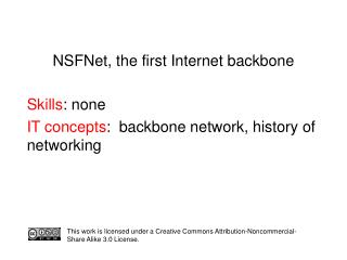 NSFNet, the first Internet backbone