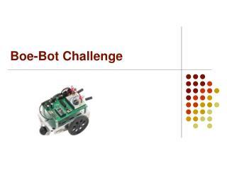 Boe-Bot Challenge