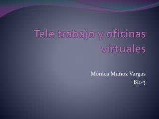 Tele trabajo y oficinas virtuales