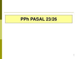 PPh PASAL 23/26