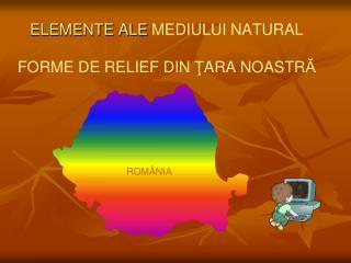 ELEMENTE ALE MEDIULUI NATURAL FORME DE RELIEF DIN  Ţ ARA NOASTR Ă