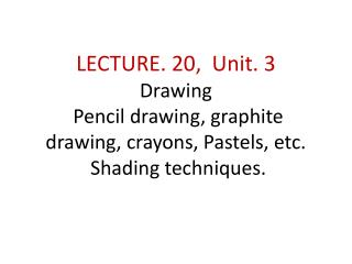 SUMMERY OF LECTURE.18. UNIT. 3. LECTURE . 19 was practical