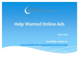 Help Wanted Online Ads