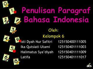 Penulisan Paragraf Bahasa Indonesia