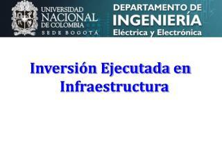 Inversi�n Ejecutada en Infraestructura