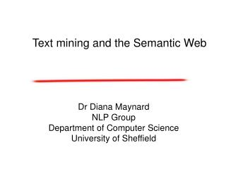 Text mining and the Semantic Web