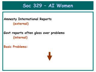 Soc 329 � AI Women
