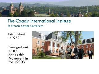 The Coady International Institute St Francis Xavier University