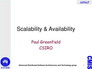 Scalability & Availability