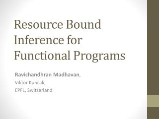 Resource Bound Inference for Functional Programs