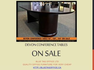 Devon Conference Tables on SALE at Blue Tag Office in Canada