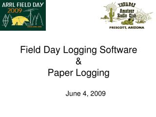 Field Day Logging Software & Paper Logging