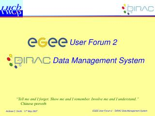 User Forum 2 Data Management System