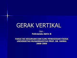GERAK VERTIKAL